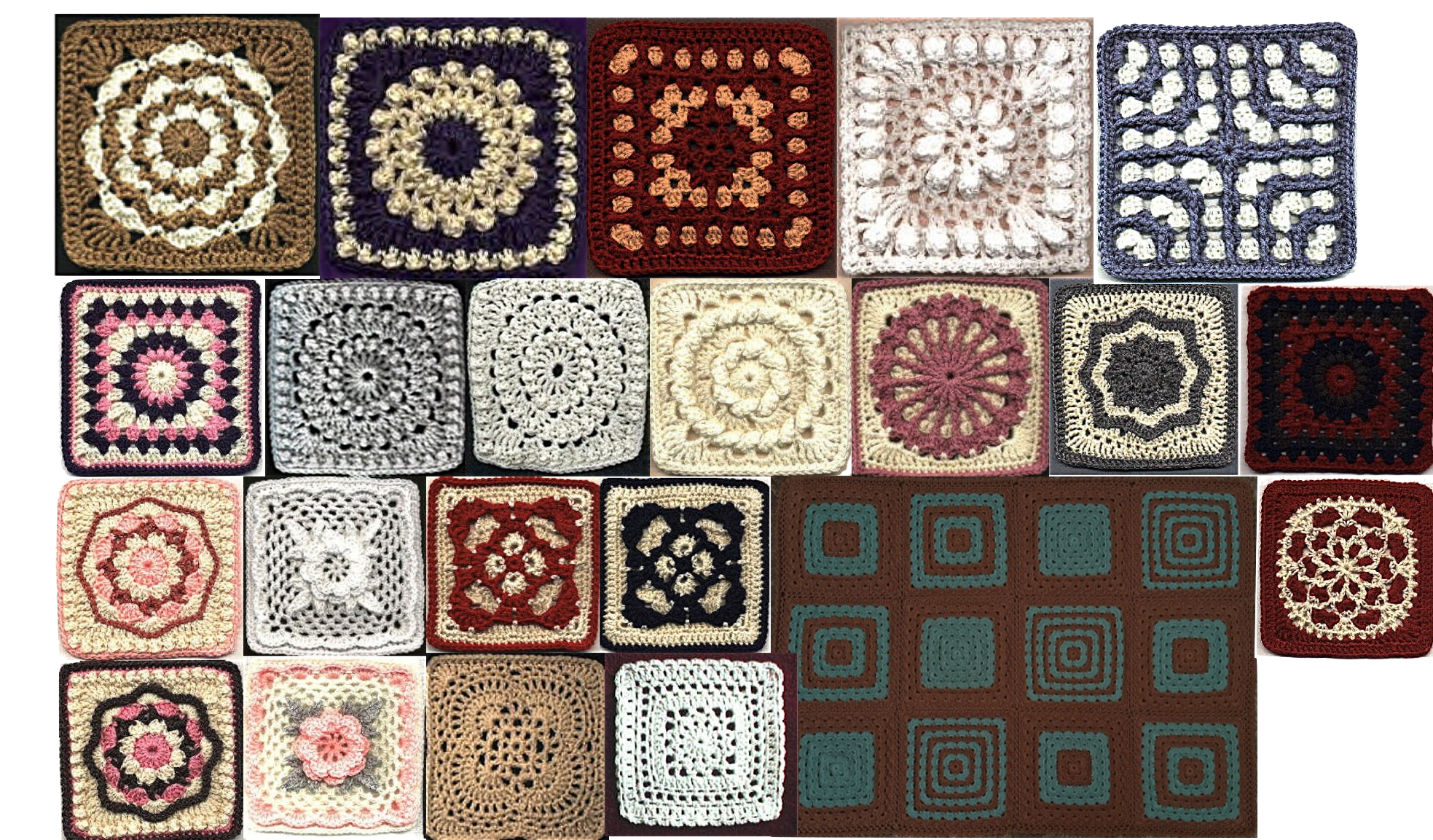 Free Crochet Patterns Of Afghan Squares : Free Pattern Index